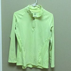 Highlighter yellow 1/4 zip duo- dry